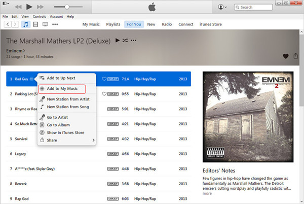 itunes how to add my library